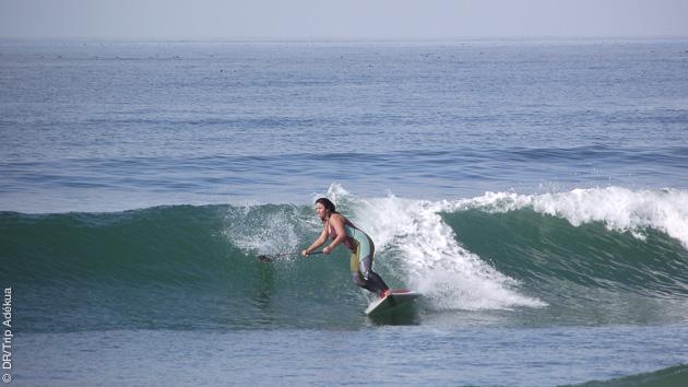 surf paddle en Californie à San Clemente