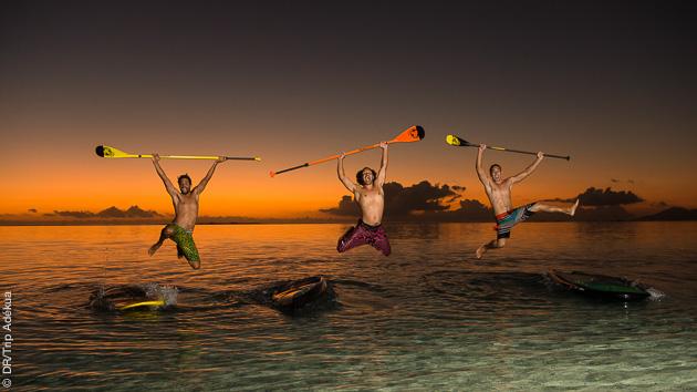 voyage à tahiti avec du stand up paddle