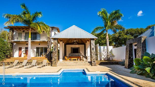 Hébergement dans une villa de luxe pour ce coaching sand up paddle exceptionnel au Costa Rica