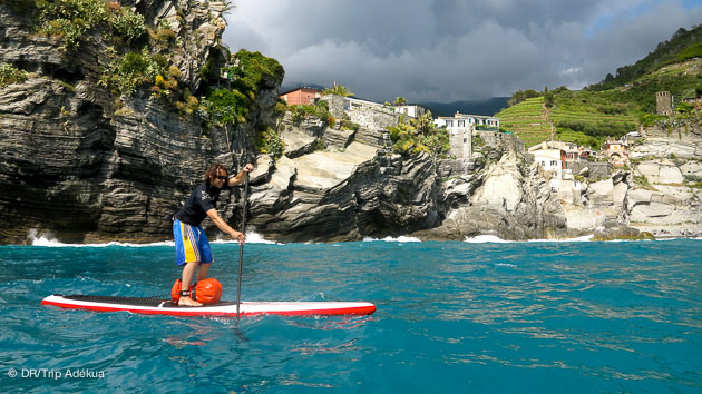 sup touring en Ligurie