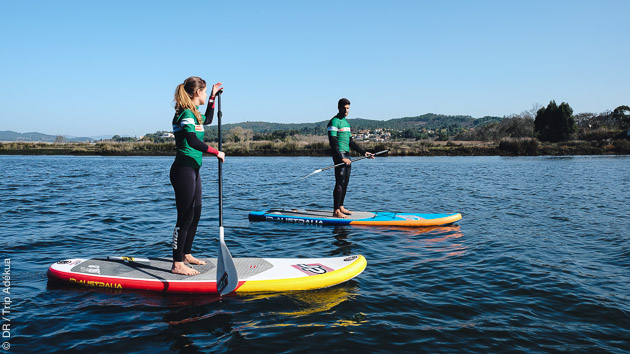 découverte du stand up paddle au Portugal