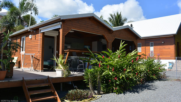 Cours et bungalow tout confort pour des vacances de rêves en Guadeloupe