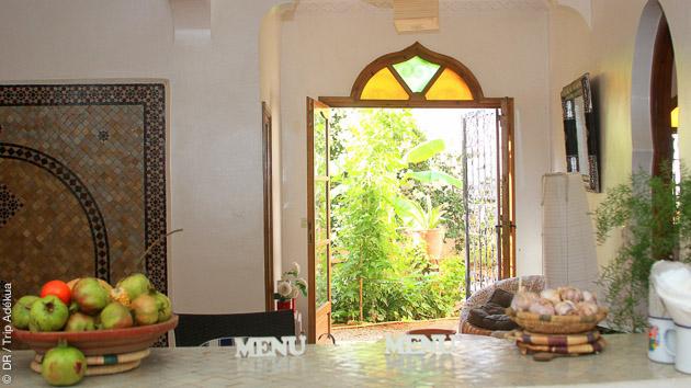Un hébergement de qualité dans un riad privatisé avec repas en terrasse et tout confort, pour ce séjour stand up paddle à Agadir