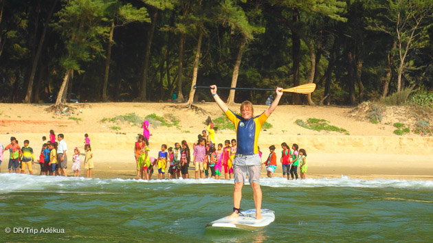 vos vanaces stand up paddle en Inde à Goa