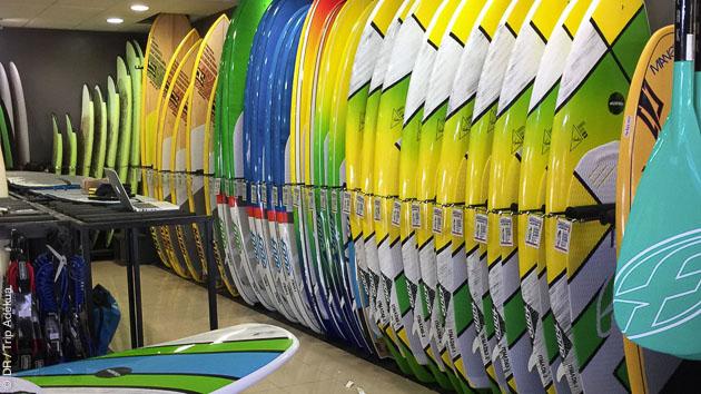 Matériel de qualité pour ce stage de SUP surf à Fuerteventura
