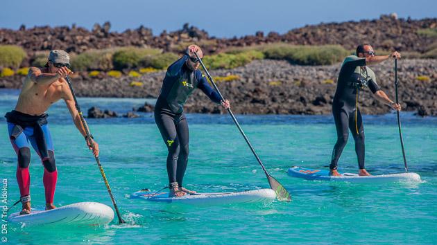 SUP surf ou excursion, vous y trouverez votre compte pendant ce stage aux Canaries