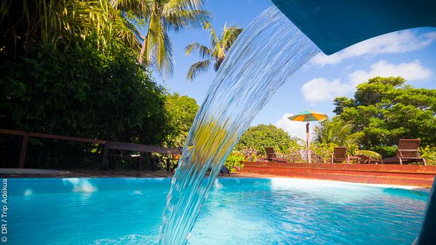 la piscine au paddle camp de Tibau au Brésil